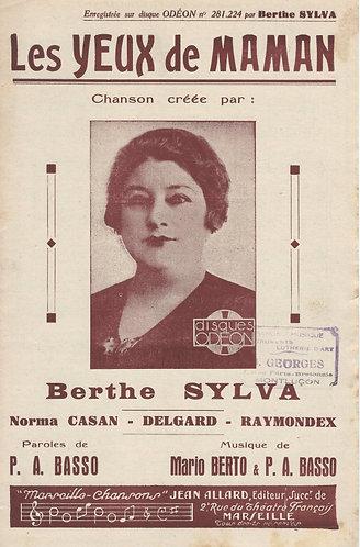 Berthe Sylva   Mario Berto   Les Yeux de Maman   Chanson   Piano