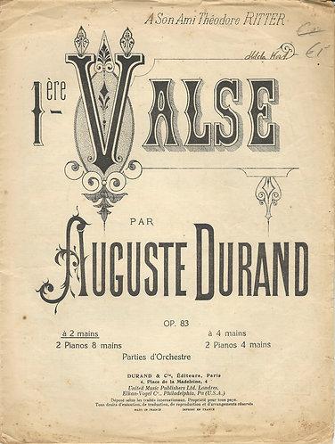 Auguste Durand   1st Valse   Piano