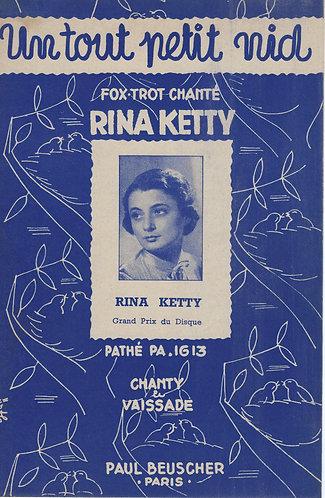 Rina Ketty | Jean Vaissade | Un Tout Petit Nid | Chanson