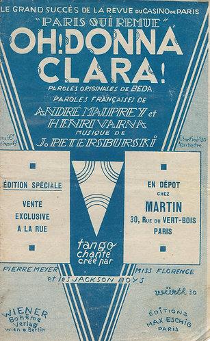 J. Petersburski | Henri Varna | Oh Donna Clara | Chanson