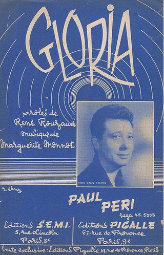 Paul Peri | Marguerite Monnot | Gloria | Chanson
