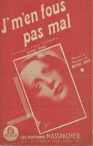Edith Piaf   Michel Emer   J'm'en fous pas mal   Vocals