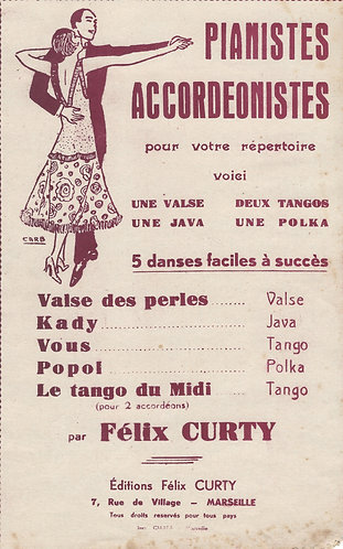 Felix Curty   Valse des Perles   Accordion