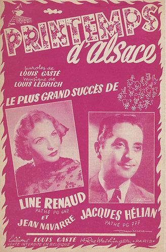 Line Renaud | Louis Gaste | Louis Ledrich | Printemps d'Alsace | Chanson