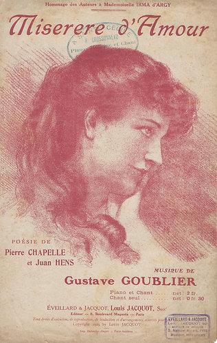 Gustave Goublier | Miserere d'Amour | Chanson