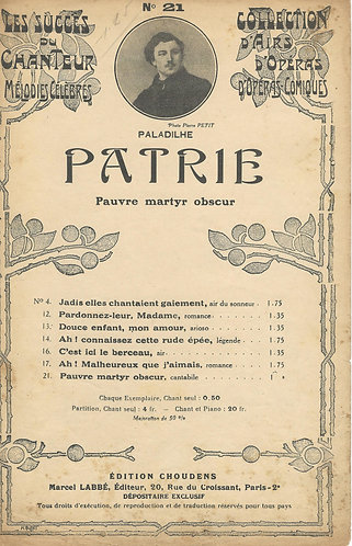 E. Paladilhe | Pauvre martyr obscur | Vocals