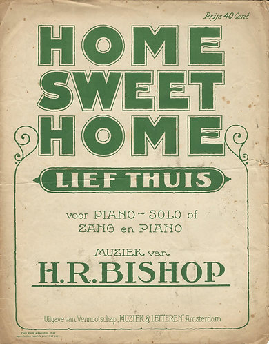 H.R. Bishop   Lief Thuis   Home Sweet Home   Piano   Vocals