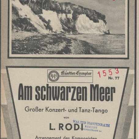 'On the black sea' by Georges Boulanger and Leo Rodi: kick-off VintageMusicShop Berlin