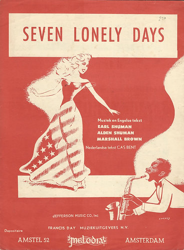 Bonnie Lou | Earl Shuman | Seven Lonely Days | Piano | Vocals