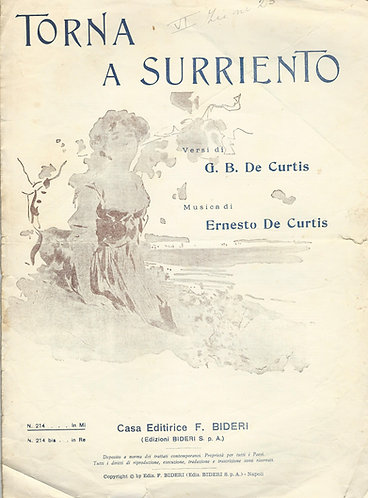 Ernesto de Curtis | Torna a Surriento | Piano | Vocals