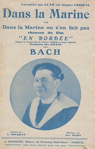 Geo Sundy   Bach   Dans la Marine   Chanson