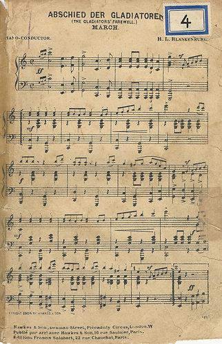 H.L. Blankenburg | Abschied der Gladiatoren (print 1906) | Piano