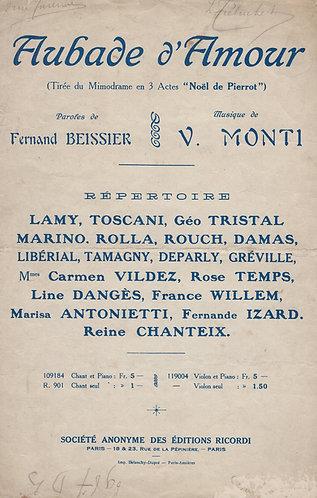 V. Monti | Aubade d'Amour | Chanson