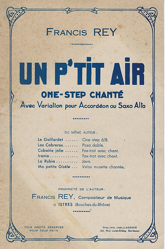 Francis Rey | Un p'tit Air | Orchestra
