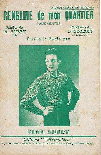 Rene Aubry | L. Georgin | Regain de mon quartier | Accordeon | Vocals