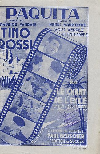 Tino Rossi   Henri Bourtayre   Paquita   Chanson