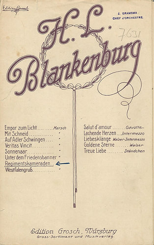 H.L. Blankenburg | Regimentskamaraden | Piano