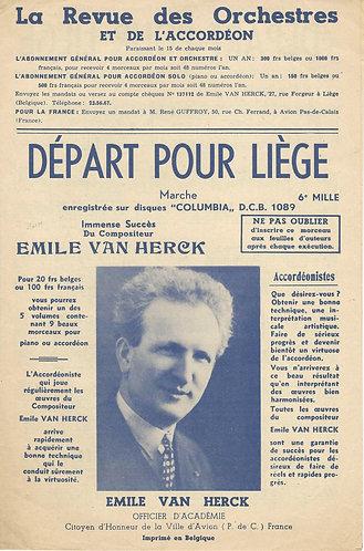 Emile van Herck   Depart pour Liege   Accordion