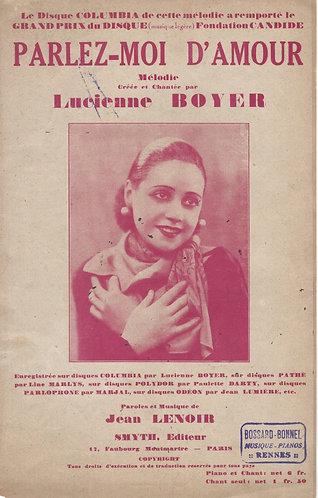 Jean Lenoir | Lucienne Boyer | Parlez Moi D'Amour | Chanson