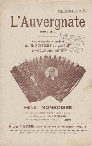 Henri Momboisse | Laurant Halet | L'Auvergnate | Piano | Accordion