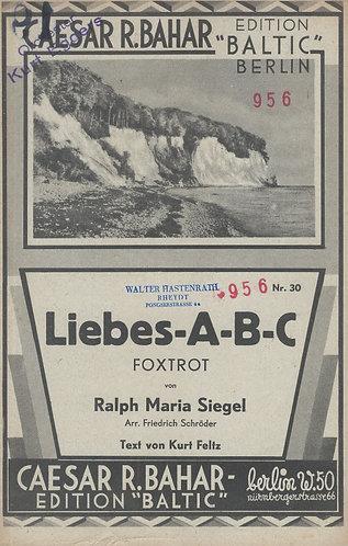 Ralph Maria Siegel | Friedrich Schroder | Liebes A-B-C | Piano