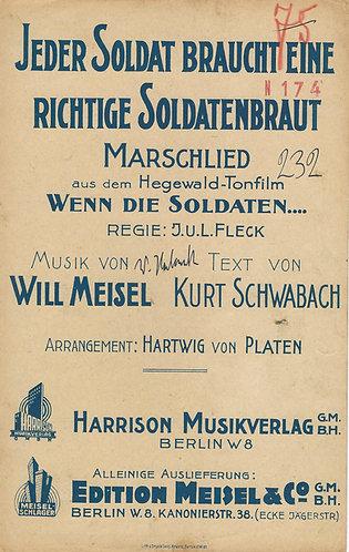 Will Meisel   Jeder Soldat   Orchestra