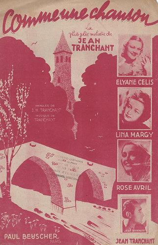 Elyane Celis | Lina Margy | Jean Tranchant | Comme une chanson