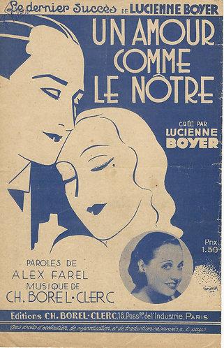 Lucienne Boyer | Ch. Borel-Clerc | Un Amour Comme le Notre | Vocals