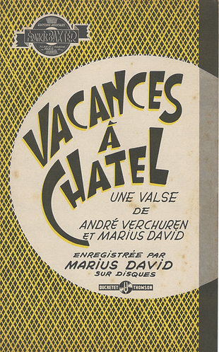 Andre Verchuren | Marius David | Vacances a Chatel | Piano