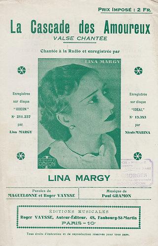 Lina Margy   Paul Gramon   La Cascade des Amoureux   Chanson