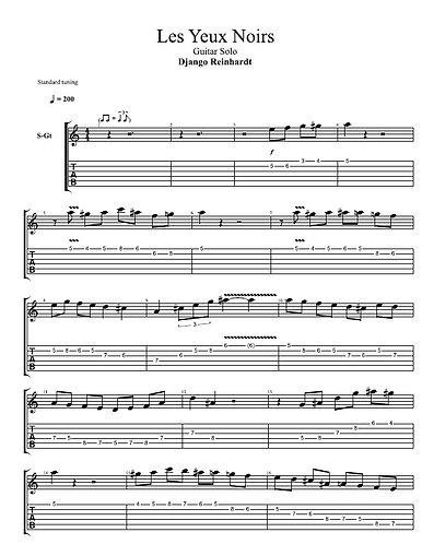 Django Reinhardt | Les Yeux Noirs | Guitar Manouche