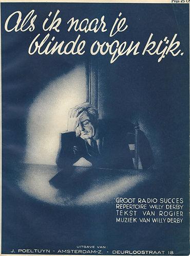 Willy Derby | Als ik naar je blinde ogen kijk | Piano | Vocals