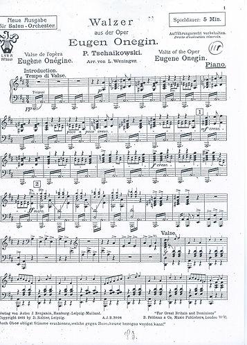P. Tschaikowski | Eugen Onegin | Piano | Salon Orchestra