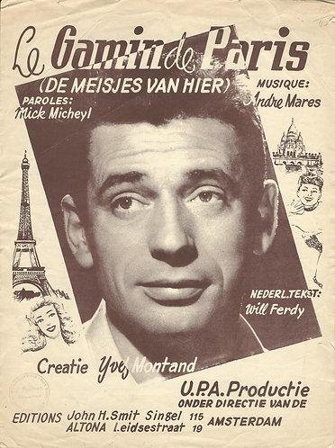 Yves Montand | Andre Mares | Le Gamin de Paris | Piano | Vocals
