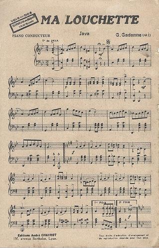 G. Gadenne | Ma Louchette | Piano