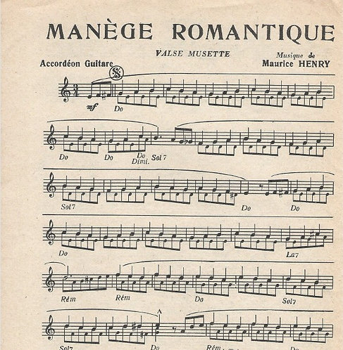 Maurice Henry | Manege Romantique | Combo