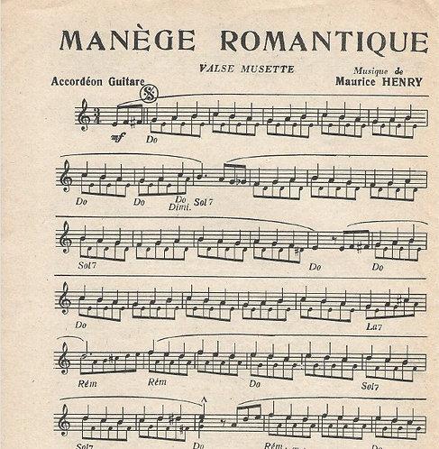 Maurice Henry | Manege Romantique | Accordeon
