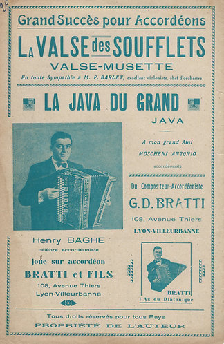 G.D. Bratti | La Valse des Soufflets | Piano | Accordion