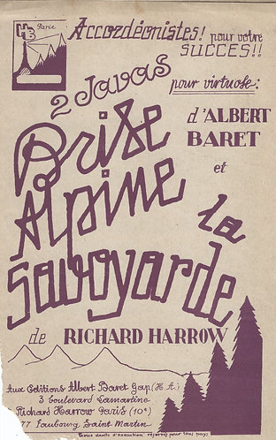 Richard Harrow   La Savoyarde   Accordion