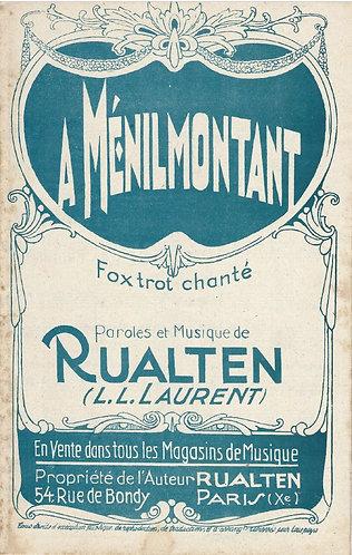 Rualten | A Ménilmontant | Chante