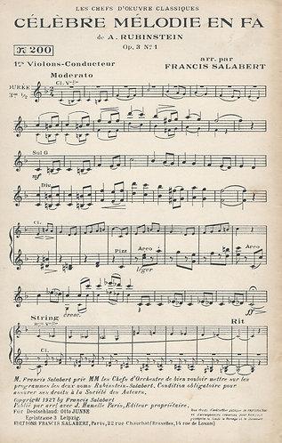 Anton Rubinstein | Celebre Melodie en Fa | Orchestra
