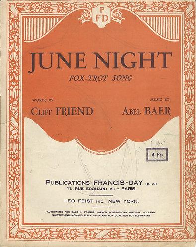 Abel Baer | June Night | Piano | Vocals