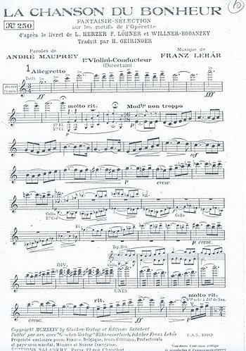 Franz Lehar | La Chanson du Bonheur | Orchestra