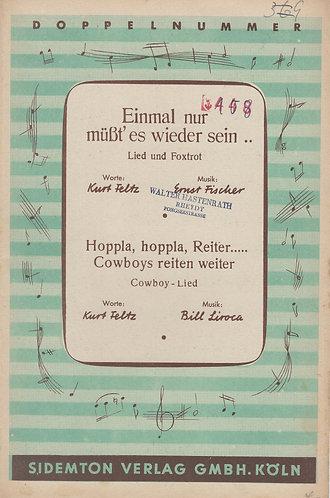 Ernst Fischer   Einmal nur must'es wieder sein   Orchestra