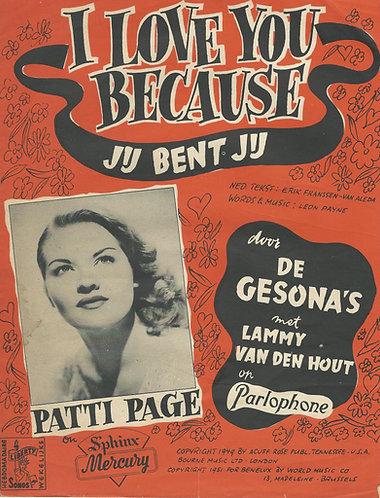 Patti Page | I love you because | De Gesona's | Leon Payne | Jij bent jij
