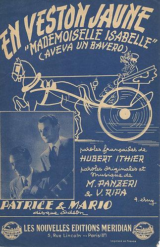Patrice et Mario | M. Panzeri  | En veston jaune | Aveva un bavero | Vocals