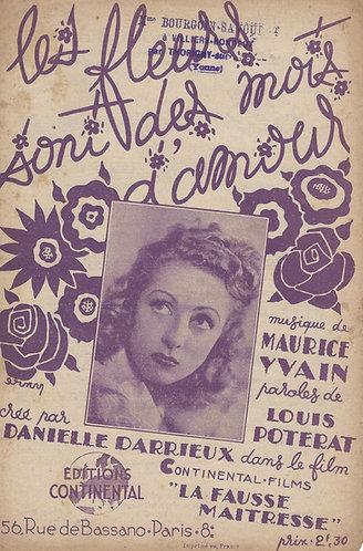 Danielle Darrieux | Maurice Yvain | Les Fleurs sont des Mots d'Amour | Chanson