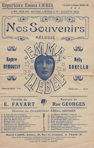 Raoul Georges | Emma Liebel | Nos Souveniers | Chanson