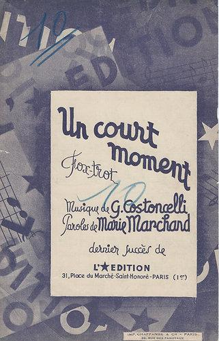 G. Costoncelli | Un Court Moment | Piano | Accordeon