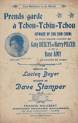 Dave Stamper | F. Salabert | Prends garde a Tchou Tchin Tchou | Chanson